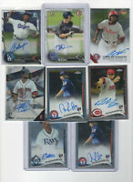 8 ct lot mixed 2014-2016 topps & bowman Chrome AUTOGRAPH Rookie Cards ALL Autos!