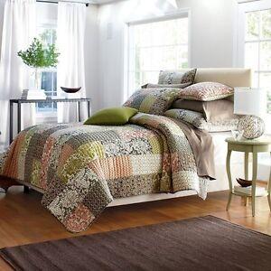 The Company Store Quilt Comforter Patchwork 100% Cotton Eliza