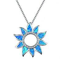 mode elegantes geschenk kette opal - kette aus sonnenblumen - anhänger schmuck
