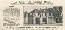 1936 Georgian House 20 Miles London 8 Bedrooms 2 Acres £3950