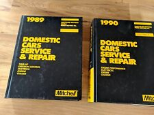 1989-1990 Mitchell Domestic Cars Service & Repair Manual Hardcover Books