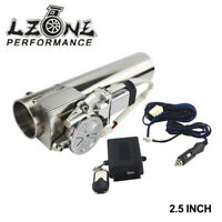 """2.5"""" Electric I-Pipe Exhaust Downpipe Cutout E-Cut Out Valve System Kit+Remonte"""