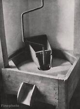 1928 Vintage HAND GRAIN MILL Food Kitchen Photo Fine Art ~ ALBERT RENGER-PATZSCH