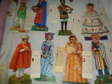 VINTAGE 1971 FESTIVAL FIGURES PAPER DOLLS AROUND THE WORLD-UNICEF
