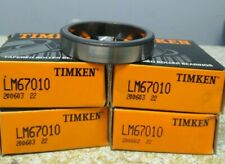Timken Lm67010 Roller Bearing Cup Lot Of 4 Nos