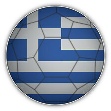 Greece Flag Soccer Ball Car Bumper Sticker Decal 5'' x 5''