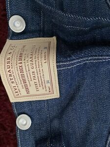 Rare Levis 1880 Waist overalls #250 of 300 LVC 34 X 34 Cinch Back