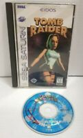 Tomb Raider (Sega Saturn, 1996) - AUTHENTIC DISC TESTED WORKING FREE SHIPPING