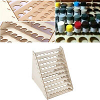75 Pots Wooden Pigment Paint Bottle Rack Model Organizer Storage Holder