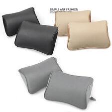 2X Leather Memory Foam Car Neck Rest Pad Cushion Seat Headrest Pillow Mat 4Color