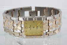 FOR PARTS & OR REPAIR BULOVA 14K GOLD PLATE 18K GOLD ACCENTS ON DIAL WATCH 1633B