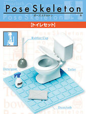 Re-Ment Pose Skeleton - Toilet Accessories ( Skeletal Figure Not Included )