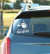 PIGS CAN FLY! - Vinyl Decal - Guinea Pig, Funny, Small Animal, Cage, Food, Snack