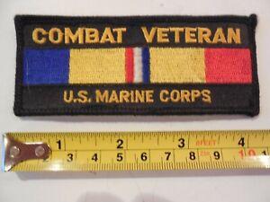 USMC Marine Corps Patch Veteran Combat Action Ribbon Vietnam CAR Patch 4x1 3/4