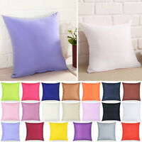Square Decorative Plain Pillow Cushion Cover Home Office Sofa Throw Case 40*40cm