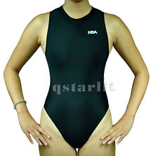 Women Endurance Competition Hi-Neck Zip-Up Hydrasuit Water Polo Swim Suit 34  XL