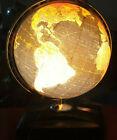 """VERY RARE!!!"" Vintage 1949 Replogle Globes 12"" Black ocean, Lighted, atlas base"