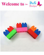 144 blocs 48 bags Color Brick Rubbers Erasers Lego Teacher blocks Party Favor