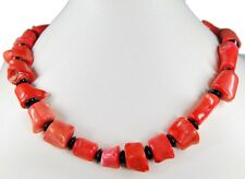 Beautiful Precious Stone Necklace in Coral with spacer beads from Grenade