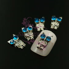 20 Vtg Night Owl Design Alloy Charms 3D Nail Art Jewelry Handcrafts Decorations