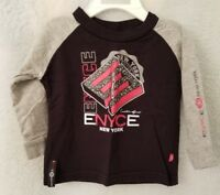Enyce Boys Black Red White Gray Logo Design Shirt Top Size 6 to 9 Month