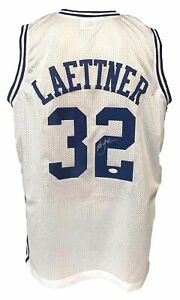 Christian Laettner Autographed College Style White Jersey PSA Authenticated