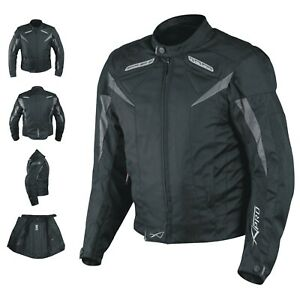 Motorcycle Jacket CE Armored Textile Motorbike Racing  Thermal Liner  Black M
