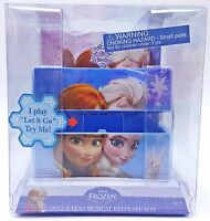 Disney Frozen Elsa Anna Girls Musical Keepsake Box Plays Let it Snow New