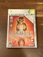 Fable: The Lost Chapters (Platinum Hits) (Microsoft Xbox, 2005) CIB W/ Manual