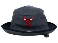 CHICAGO BULLS NEW ERA NBA HWC GRAPHITE HEATHER BLACK TRIM BUCKET HAT CAP LARGE