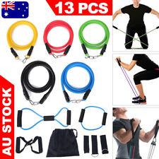 13PCS RESISTANCE BANDS Set Yoga Belt Exercise Workout Loop Home Gym Fitness Tube