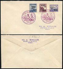 Filippine 1943 supplementi ALLUVIONE sollievo su ENV... SPECIALE TIMBRO POSTALE... Semi postals