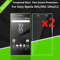 2PCS 9H Tempered Glass Film Cover Screen Protectors For Sony Xperia XA1 Ultra L1