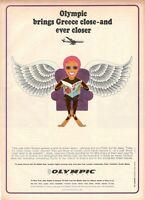 1967 Original Advertising' Vintage Olympic Airways Airlines Ever Closer