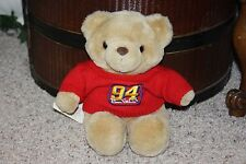 "NEW Plush BILL ELLIOTT Nascar 94 Bear 11"" Red Sweater NWT Ensemble Sports #O2"