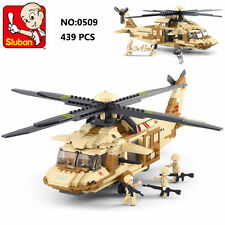 Sluban B0509 Army Hawk Helicopter Figure DIY Building Block Toy lego Compatible