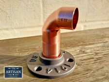 22mm Copper Elbow Iron Floor / Wall Flange Pipe Mount Fits 22mm Copper Pipe