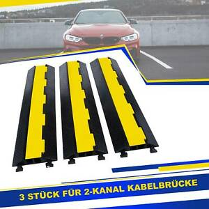 3 x 2 Kabelbrücke Schlauchbrücke Kabelmatte Kabelschutz Überfahrschutz