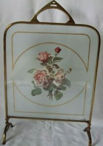 """Vintage Victorian  Fireplace Cover Stand Summer Cover Floral 26"""" x 16.5"""""""