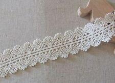 "Best Quality DIY Cotton Lace Trim Vintage Style 3.2cm(1.3"") Wide Ivory 1Yd"