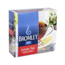 Bromley Estate Tea A Superior Blend of Fine Black Teas 100 Wrapped Bags 8oz Box