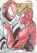 SPIDERMAN Vs SCARLET SPIDER sketch card K. LAYNO Spider-Man Archives Rittenhouse