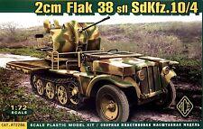 ACE 1/72 72286 WWII German Sd.Kfz.10/4 w/2cm Flak 38 AA Gun Helf-Track