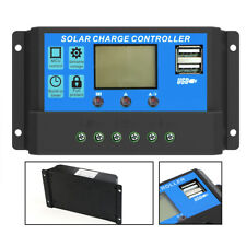 LCD Solar Panel Battery Regulator Charge Controller Intelligent 2USB 20A 12V/24V