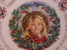 "Royal Doulton 1987 Christmas Plate ""The Holly & The Ivy"" Made in Eng Bone China"