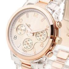 Luxury Brand Lady Women Quartz Wrist Watch Vintage Resin Band Golden Analog Dial