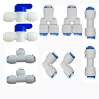 """Neeshow 1/4"""" OD Quick Connect Push In to Connect Water Tube Fitting Pack Of 10"""