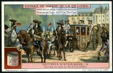 King Louis XIV's Horse Drawn Carriage France c1917 Trade Ad Card