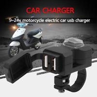 12v Handlebar Waterproof Handlebar Plug Charger Socket USB Motorcycle Motorbike