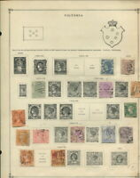 Australian States on Scott album pages-Victoria / W. Australia / Queensland